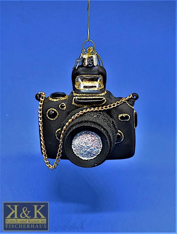 Fotoapparat schwarz-gold