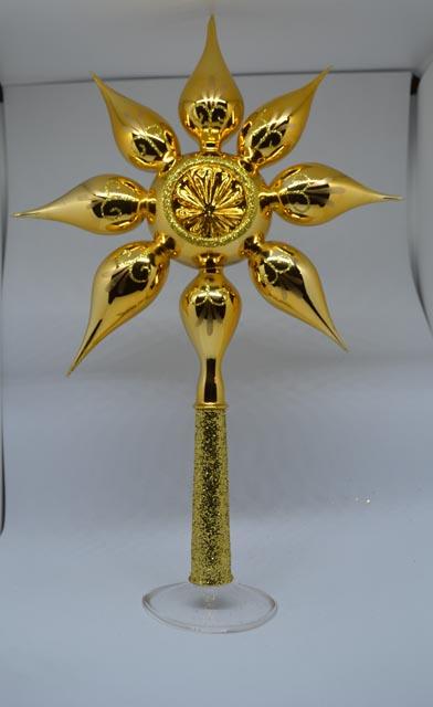 Christbaumspitz Glas gold