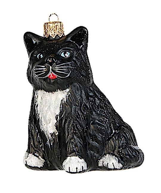Katze Schwarz sitzend