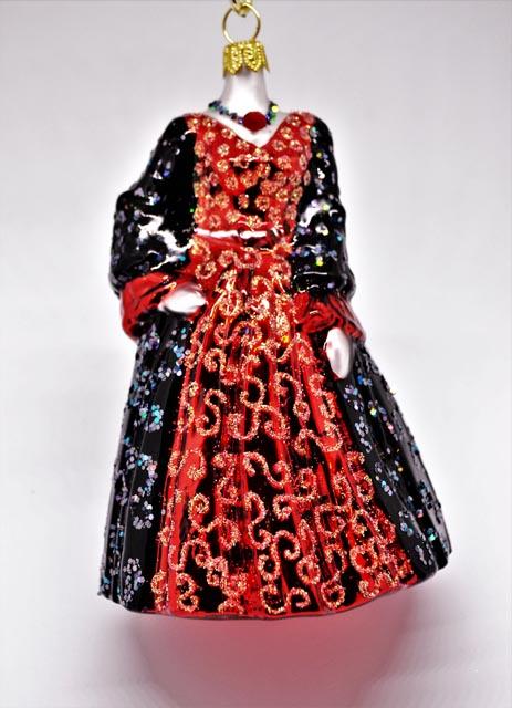 Kleid rot-schwarz